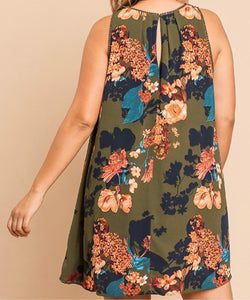 Fabulous Full Size Floral Tunic Dress