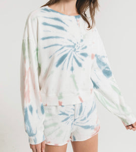 Z Supply Multi Color Tie-Dye Lounge Pullover