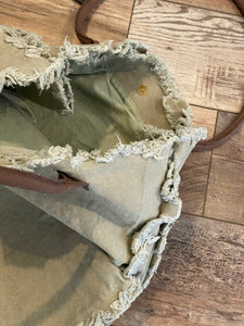 Recycled Military Tent Love Tote