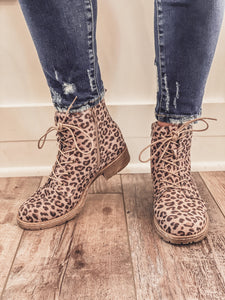 Naomi Cheetah Combat Booties