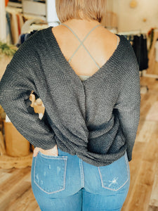 Honey Black Two Way Sweater