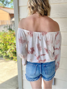 Z Supply Liv Cloud Mauve Tie-Dye Top