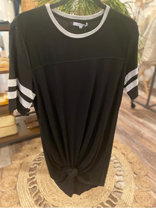 Baseball League Black T-Shirt Dress