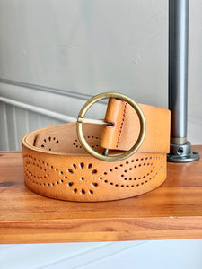 Molly's Cognac Detailed Belt