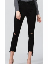 Black Raw Hem Vervet Jeans by Flying Monkey