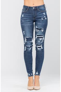 Judy Blue Adele Mid Rise Skinny Jeans