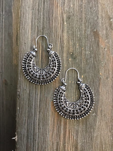 Boho Blaze Fan Earrings