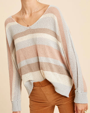Sailor Peach Side Slit Sweater