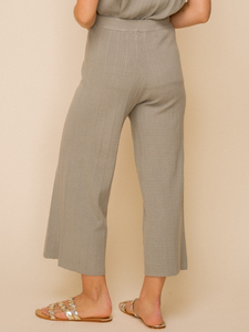 Sage Zola Wide Leg Sweater Cropped Pants