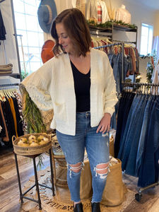 Briar Cream Chunky Open Cardigan