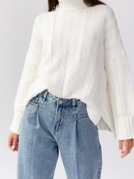 Eloise Knit Distressed Sweater