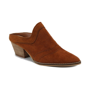 Stephanie Detailed Cognac Mule