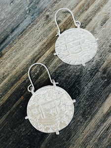 Jade Coin Earrings