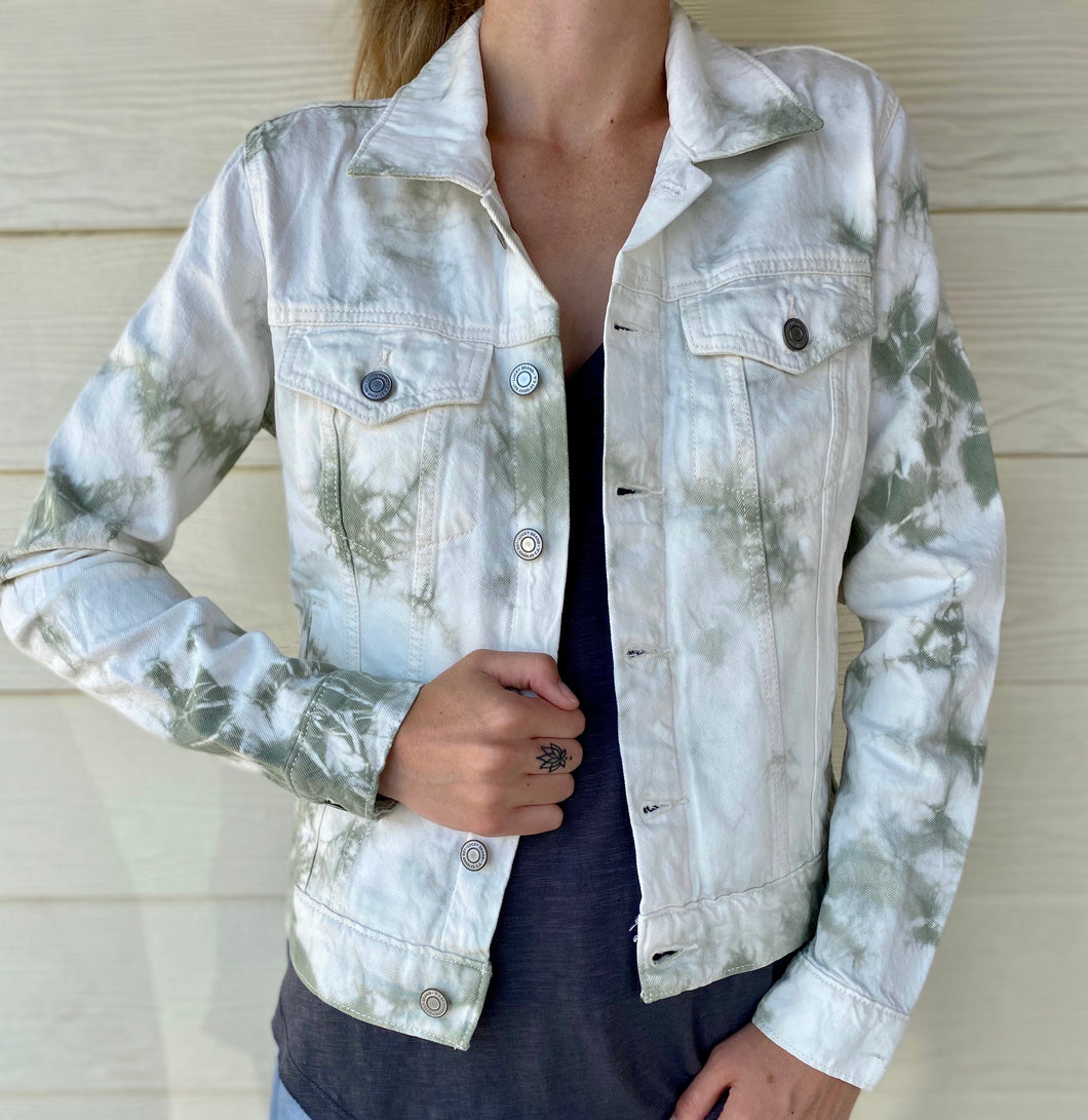 Lucky Tie Dye Tomboy Trucker Jacket