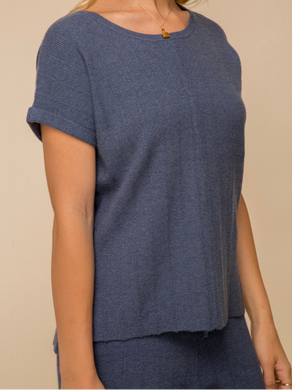 Navy Zola Lightweight Top