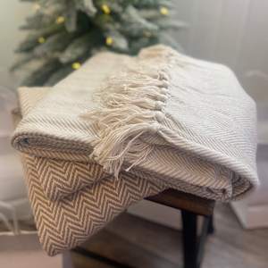 Cotton Fringe Blanket