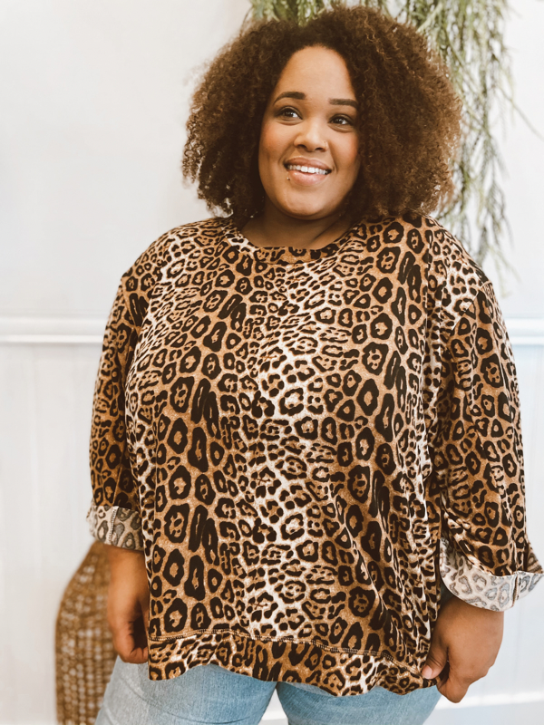 Fabulous Full Size Cheetah Sweater