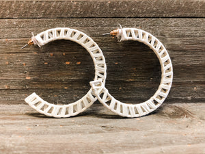 Ivory Boho Hoop Earrings