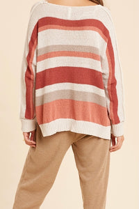 Sailor Ivory Side Slit Sweater