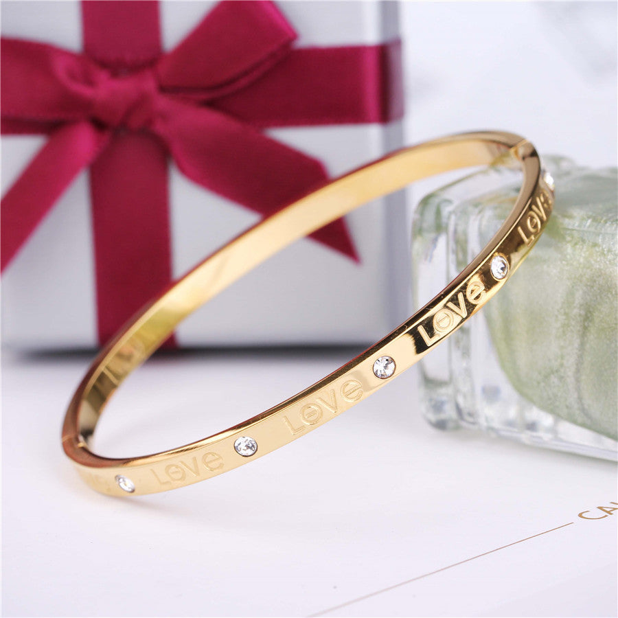 bangle bangles tone twist silver knot img gold bracelet double and love two