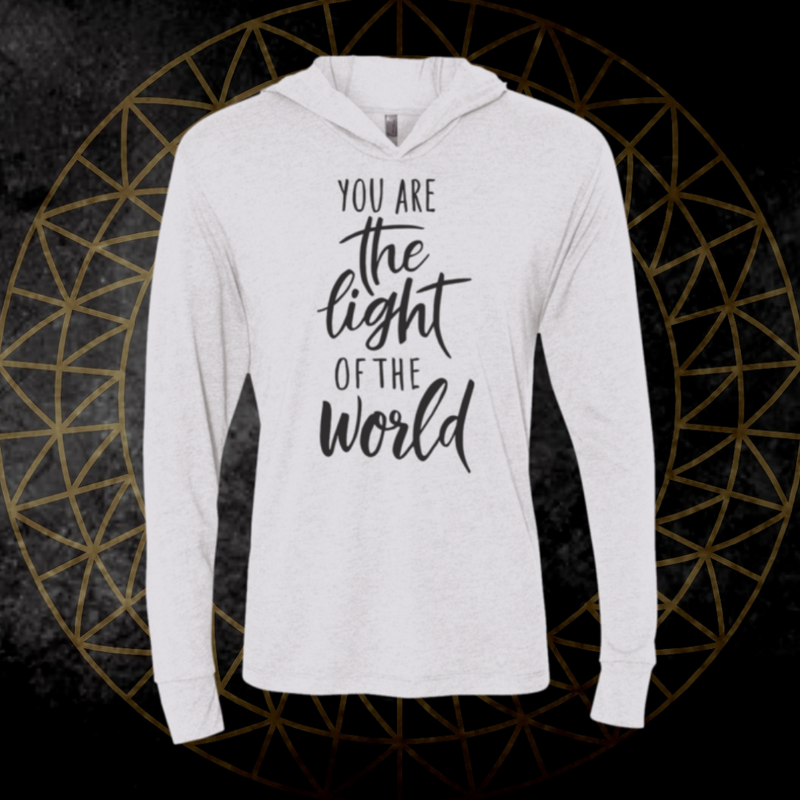 *You Are The Light* Long Sleeve Tee Hooded
