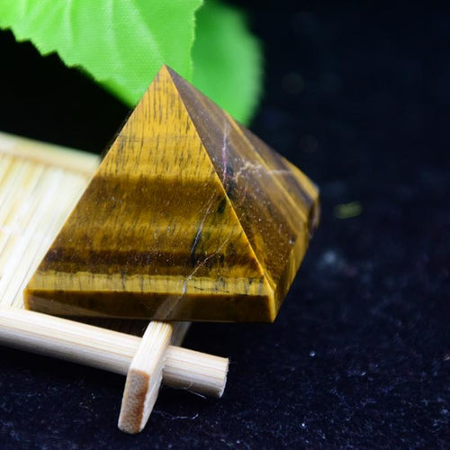 Tiger Eye Pyramid Front