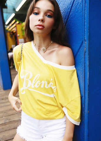 blondie retro yellow t-shirt