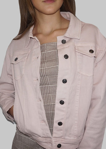 Girls Pink Trucker Jacket