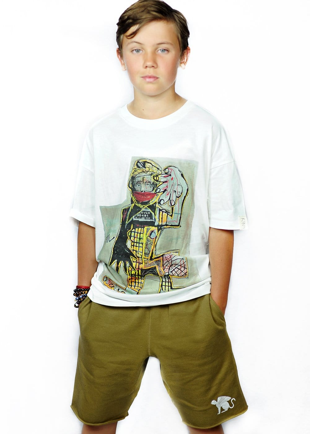 Teenzshop Youth Boys Sweat Shorts With Sphinx Logo
