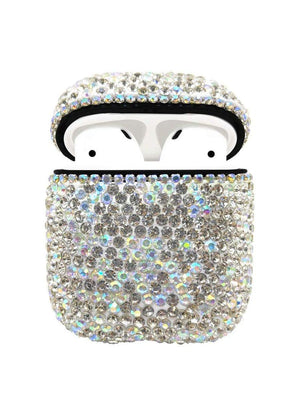 TeenzShop WHITE CRYSTAL AIRPOD CASE