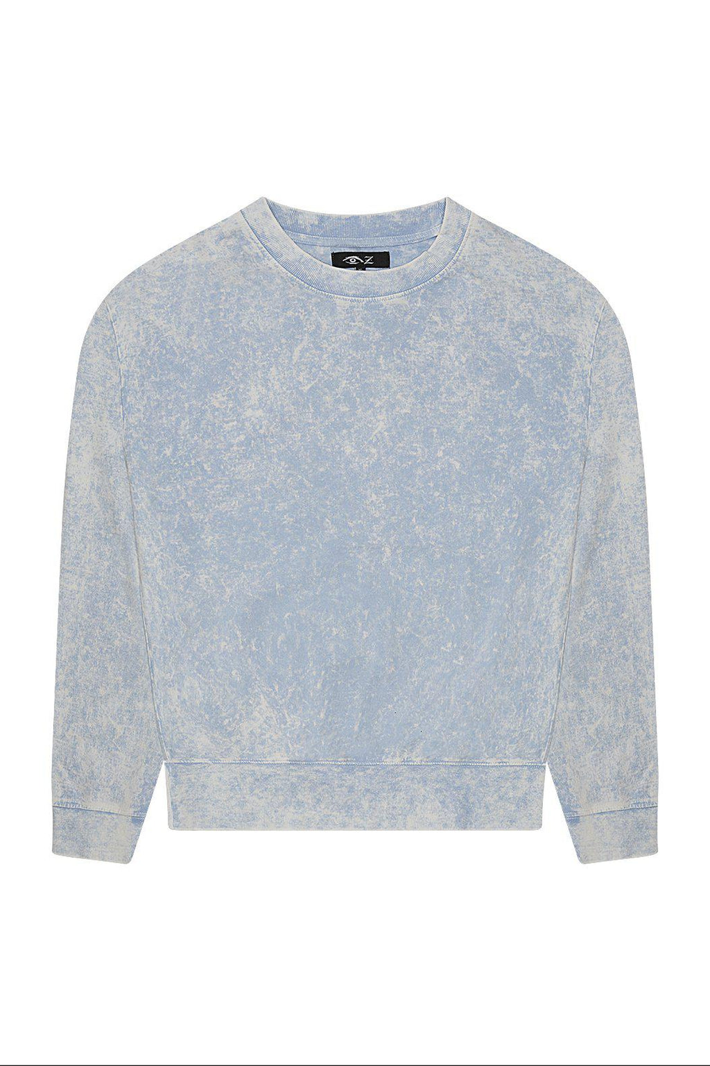 Boys Blue Stone Wash Light Sweatshirt