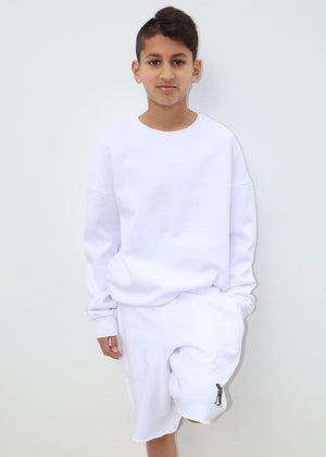 TeenzShop Youth Boys White Sphinx Sweat Shorts