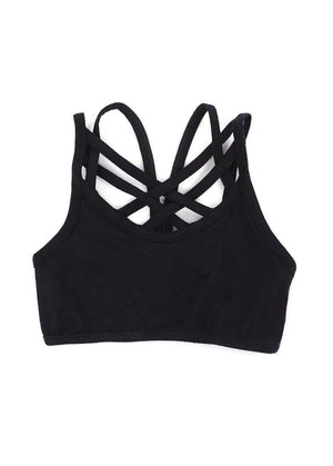 Seamless Sports Bra Black-TeenzShop