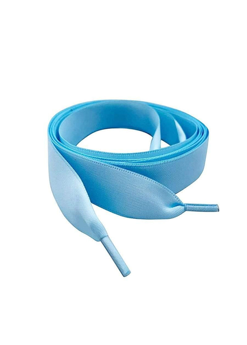 TeenzShop Blue Satin ribbon shoelace