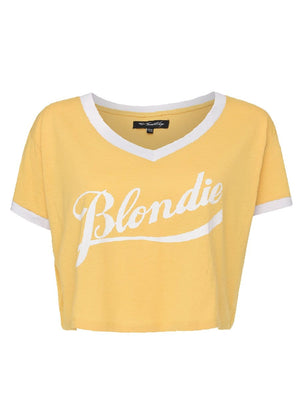 TeenzShop Youth Girls Yellow Blondie-Brunette Retro T-shirt