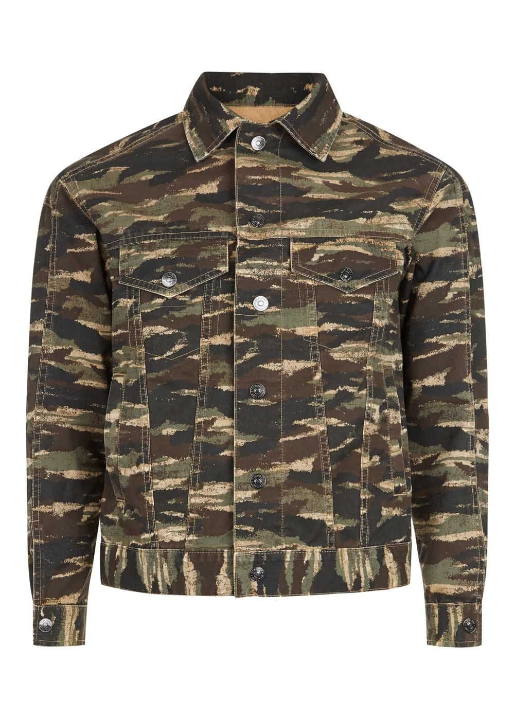 Boys Camo Army Jacket-Front