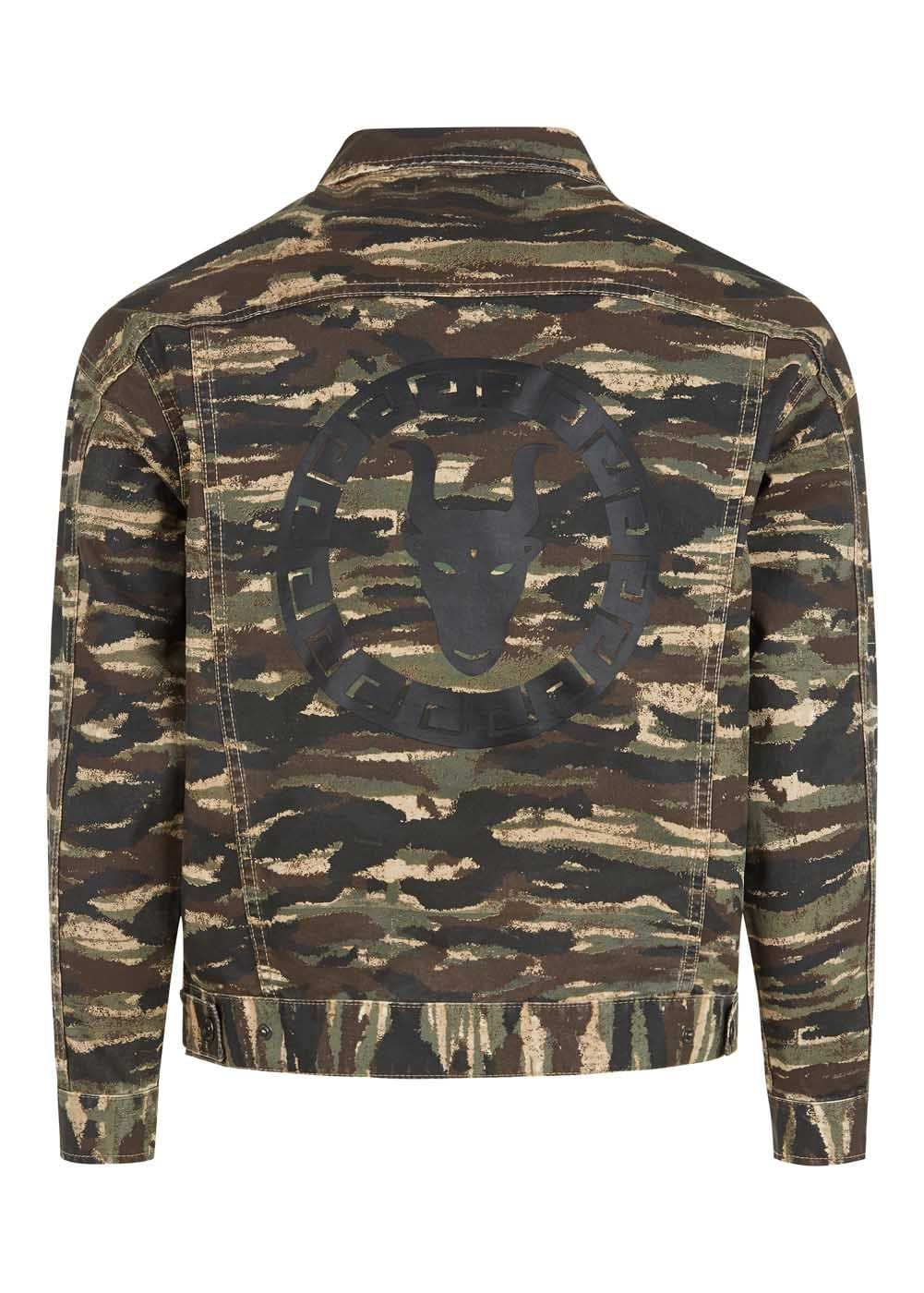 Boys Camo Army Jacket-Back