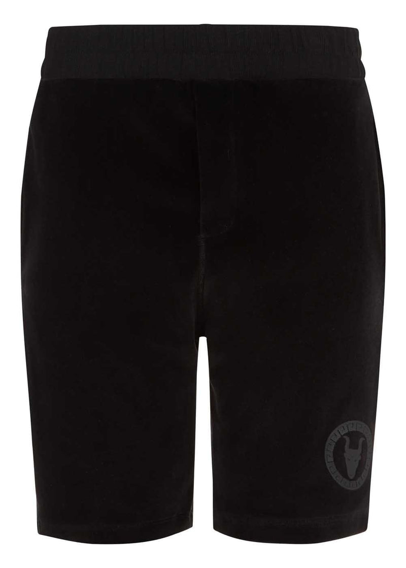 Teenzshop Youth Boys Velour Shorts With Logo