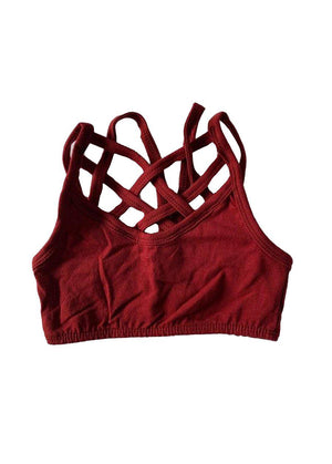 Seamless Sports Bra Burgundy