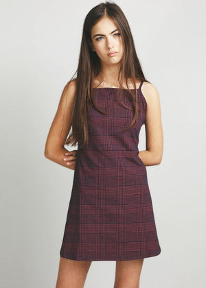TeenzShop Youth Girls Burgundy Clueless Dress