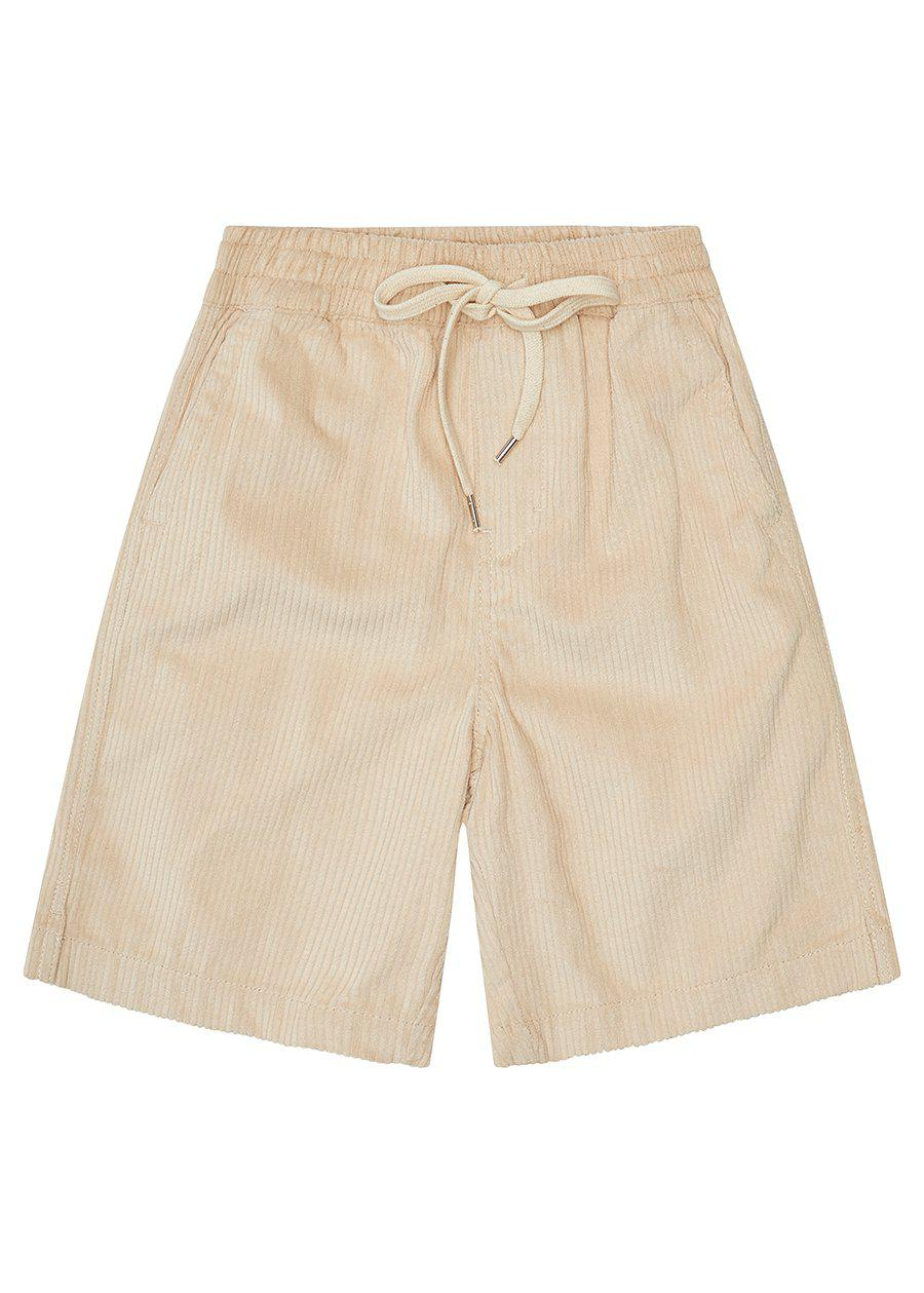 Cream Corduroy Rib Shorts