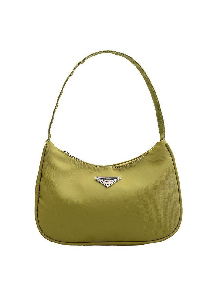 Small Lime Green Nylon 90's Handbag