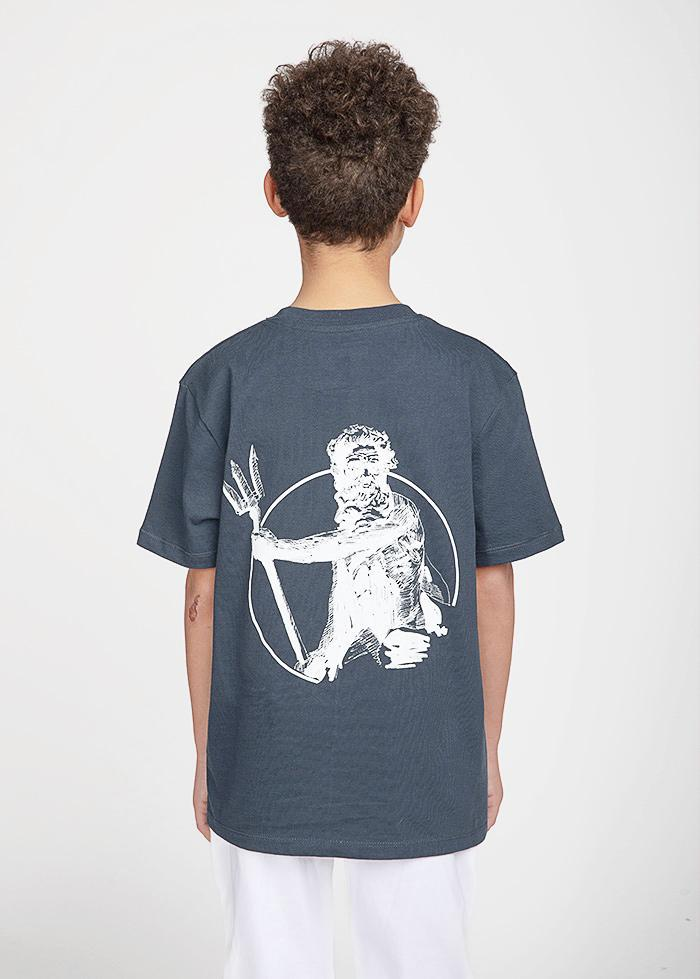 Boys Dark Teal Neptune Graphic T-shirt-TeenzShop