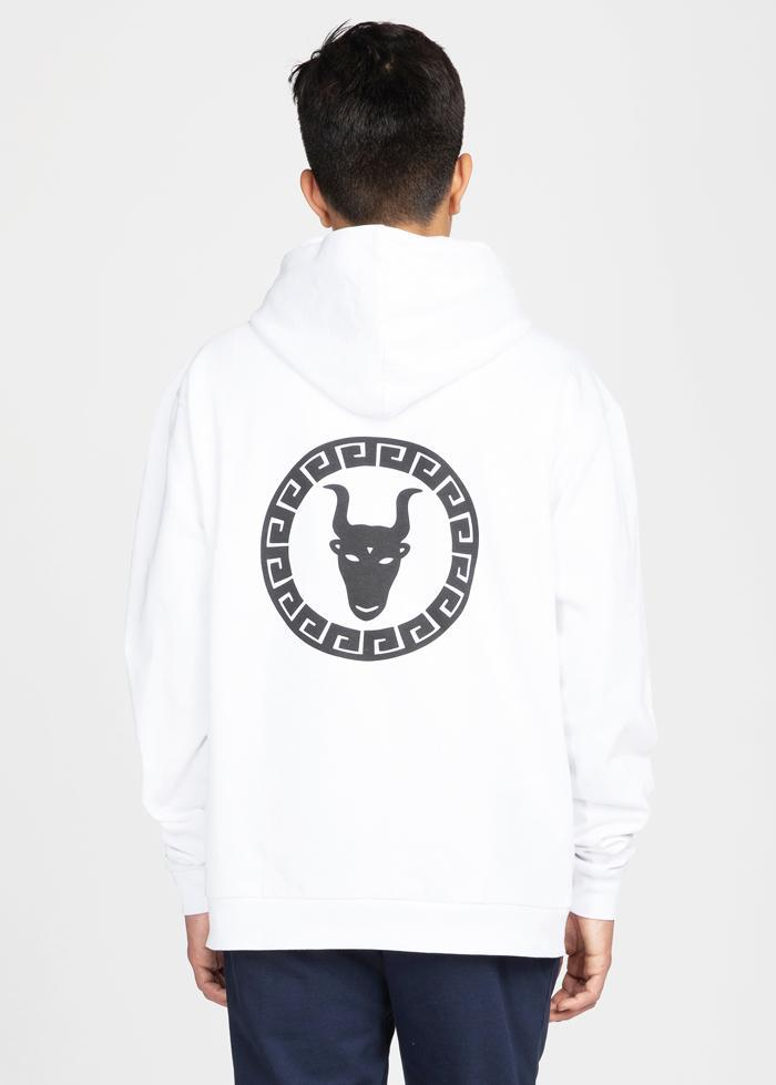 Youth Boys White Zip-Up Toro Hoodie-TeenzShop