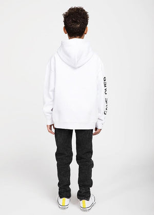 Boys White Game Over Hoodies-TeenzShop