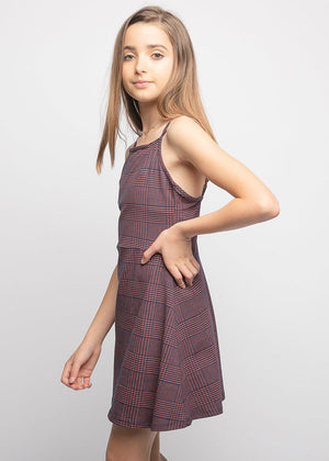 Girls Burgundy Clueless Dress