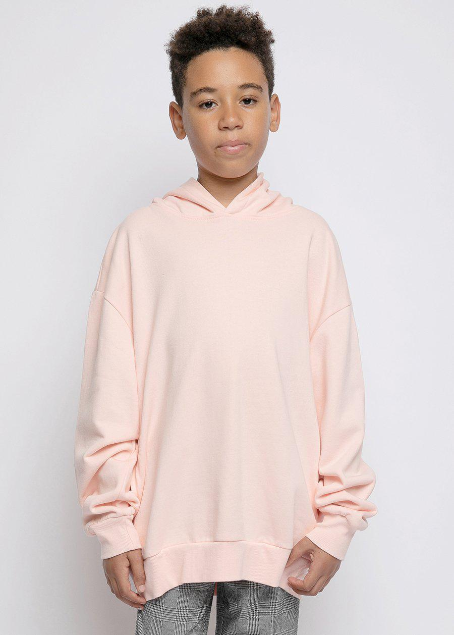 Youth Boys Pink Soft Cotton Oversize Hoodie - SUSTAINABLE FABRIC