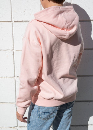TeenzShop Youth Boys Pink Soft Cotton Oversize Hoodie - SUSTAINABLE FABRIC