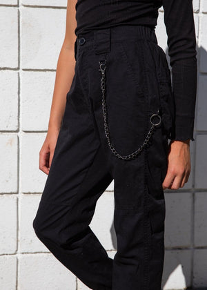 Girls Cargo Pants with Chain-TeenzShop