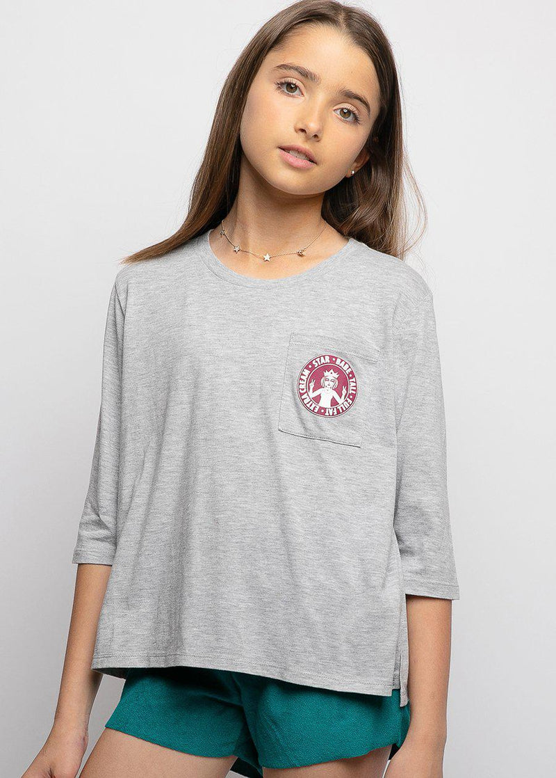Girls Star Babe Logo T-shirt-TeenzShop